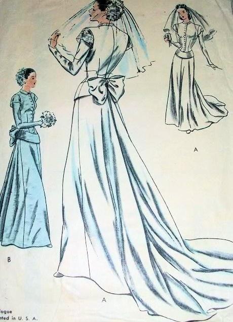 Wedding Dress Patterns Through the Decades