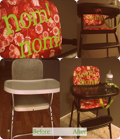 como decorar una silla de bebe