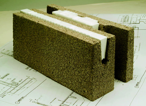 Material matters blocks for Insulated block house