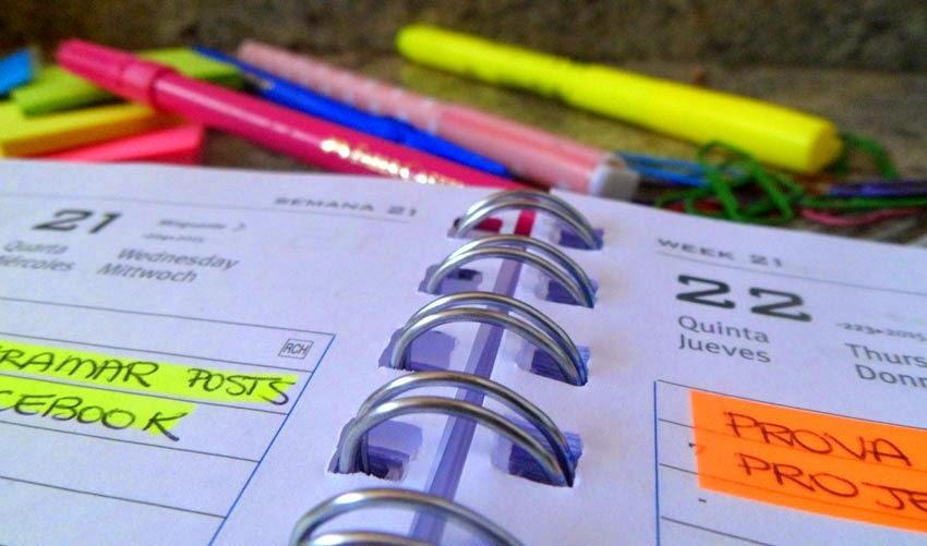 Como organizar agenda