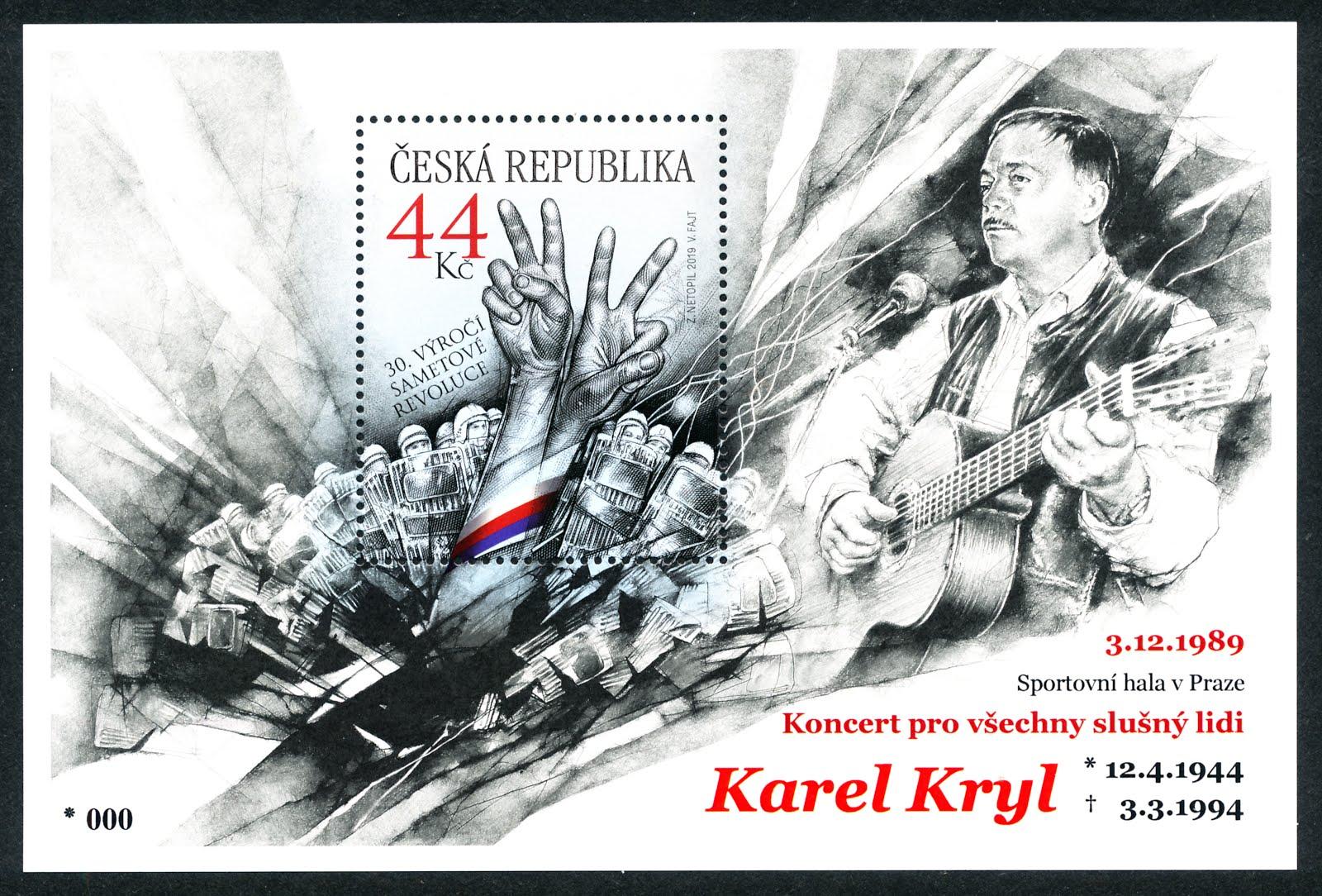 KAREL KRYL (CZ 1051 Aa) speciální pamětní přítisk