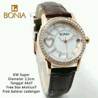 harga jam tangan wanita murah bonia date hati