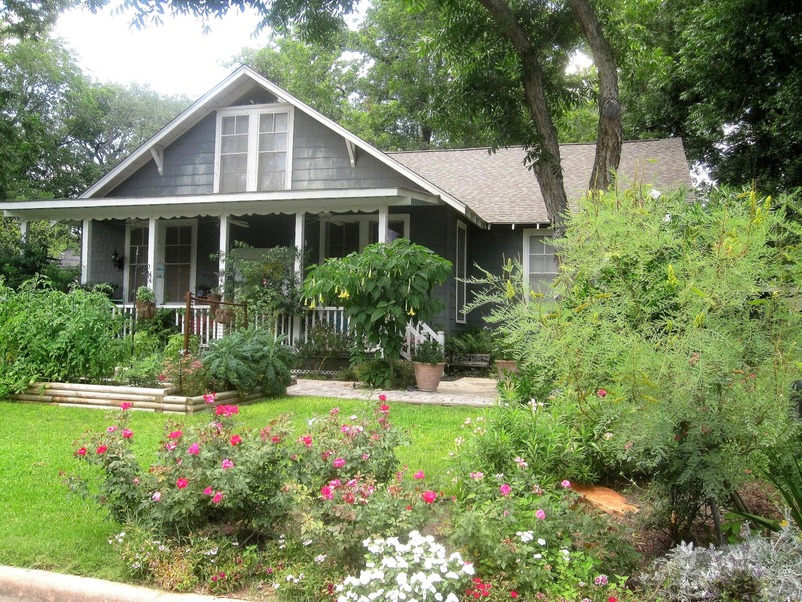 The other houston bungalow front yard garden ideas for Front garden ideas