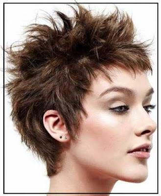 Model gaya rambut spike pendek 326987456