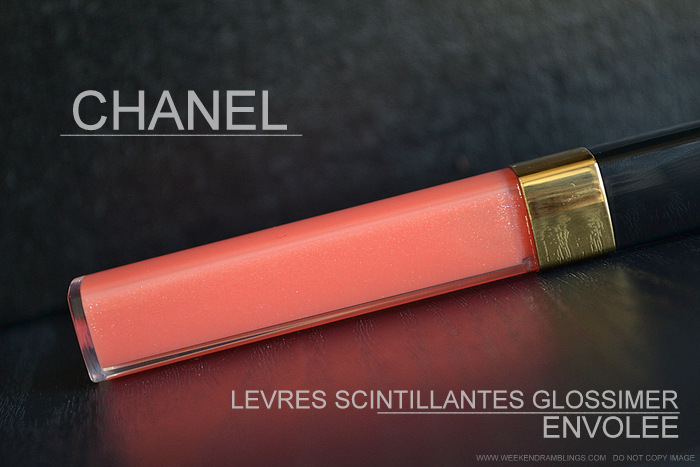 Chanel Envolee 427 Levres Scintillantes Glossimer - Lete de Papillon Summer 2013 Makeup Collection - Photos Swatches Review FOTD