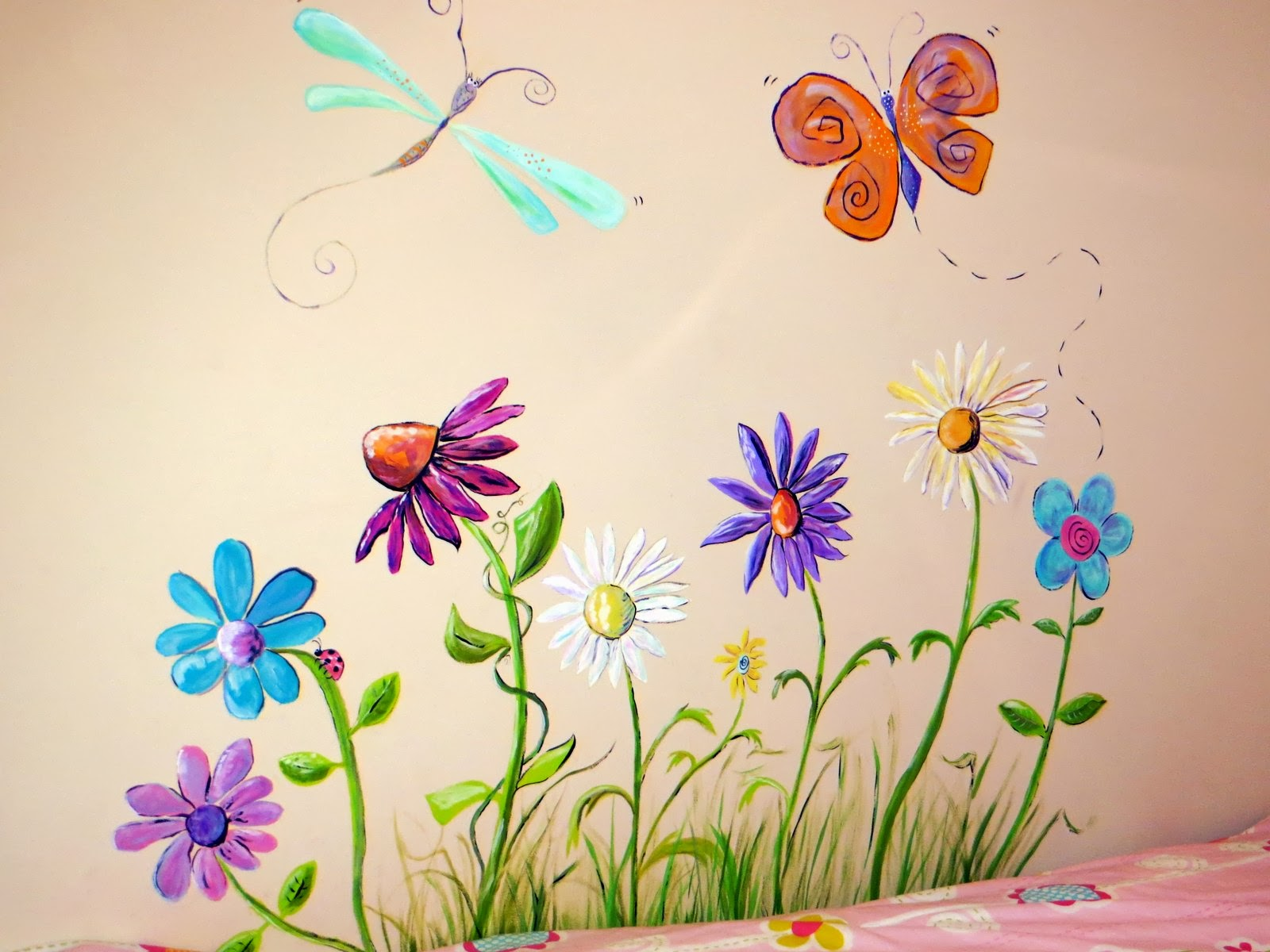 Carolyn 39 s funky furniture flower murals for Mural flower