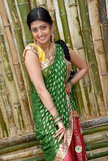 Pranitha latest  saree stills 06.jpg