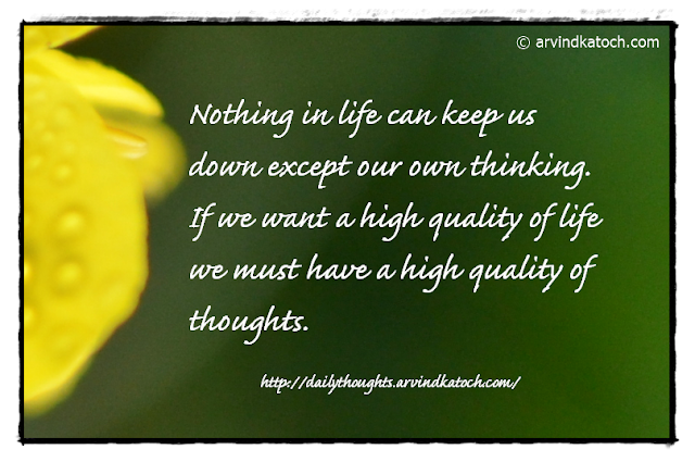 Daily Thought, Nothing, Life, thinking, thoughts, quality,