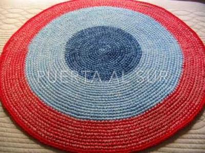 alfombra tejida circular - Alfombras lavables para el cuarto de los chicos