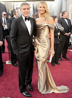 Clooney and Keibler at the Oscars