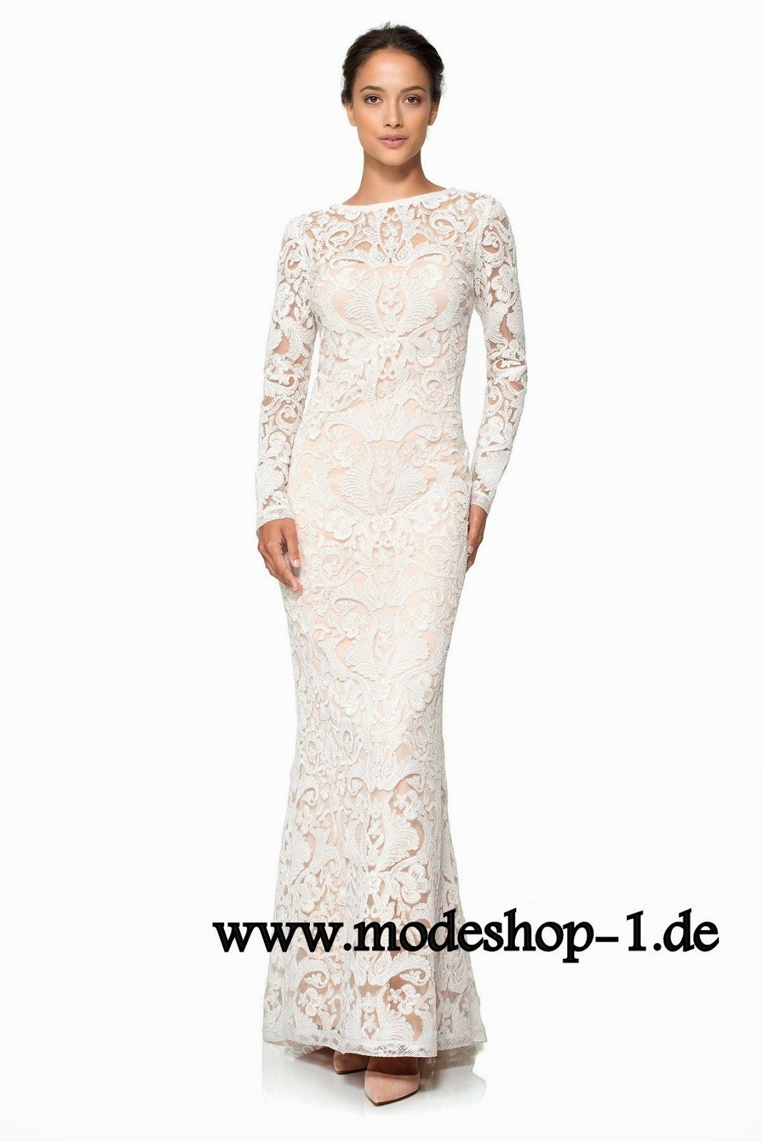 Abendkleider Mode Shop Nr1: Langarm Spitzen Brautkleid Online
