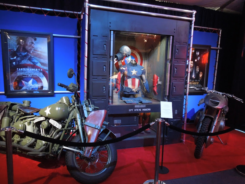 Captain America costume motorcycle exhibit