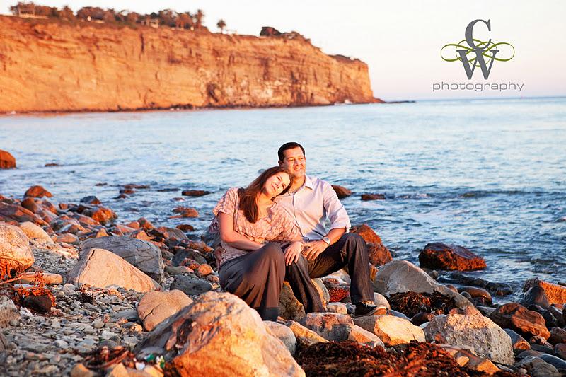 Engagement portrait, San Pedro