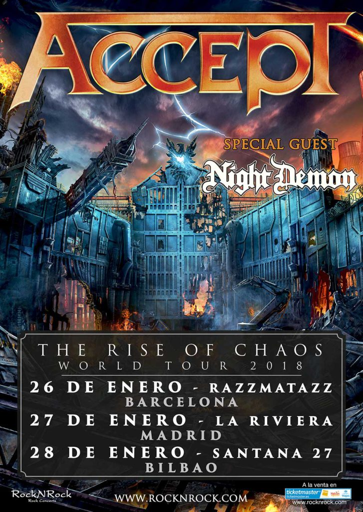 ACCEPT + NIGHT DEMON