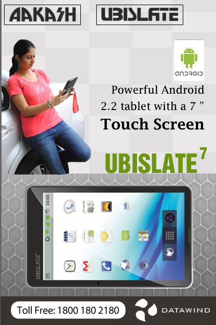 Aakash Tablet PC UBISLATE7 specification of worlds cheapest tablet by datawind