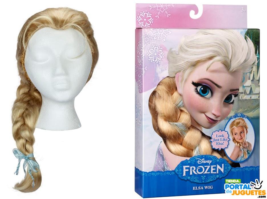 peluca elsa frozen caja