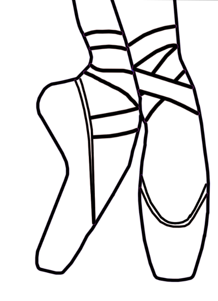 ballet shoes drawing easy - photo #36