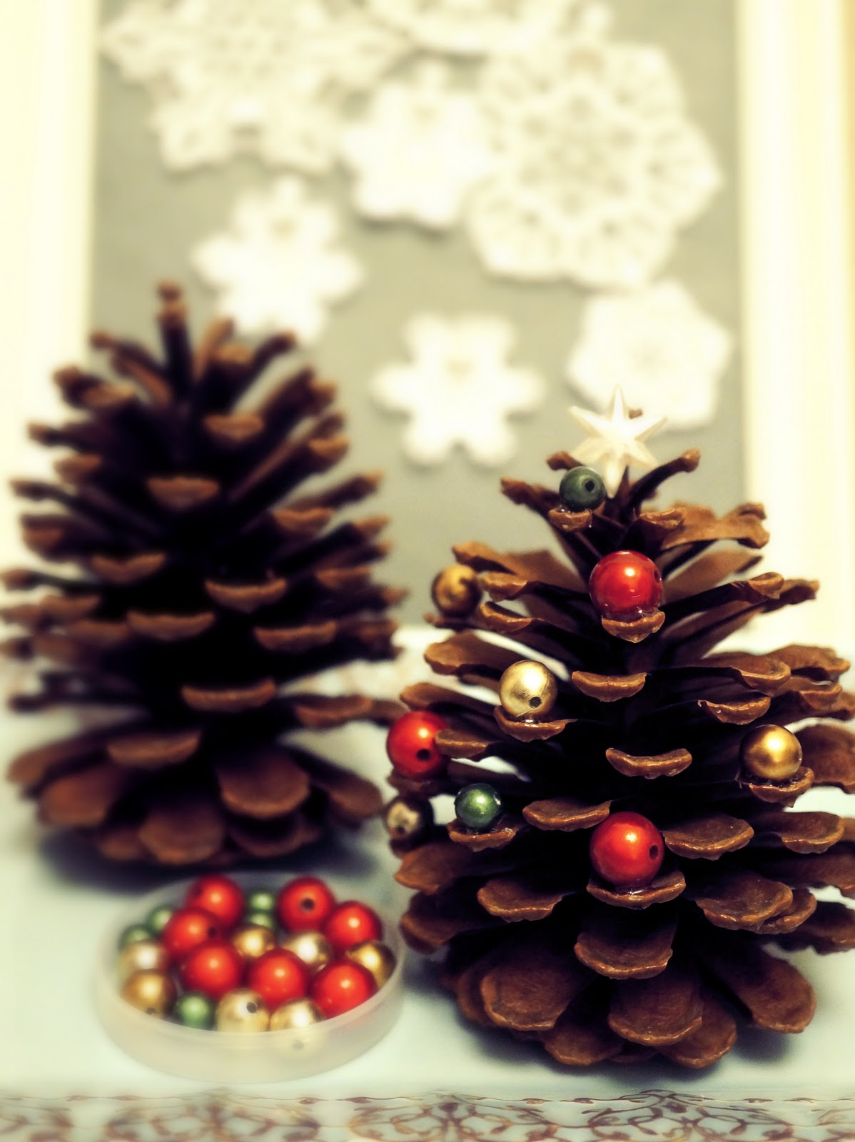Nozomi crafts pine cone christmas tree for Pine cone christmas tree craft