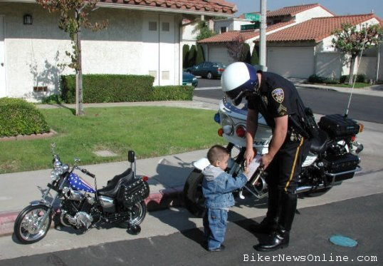 busted for not wearing a helmet