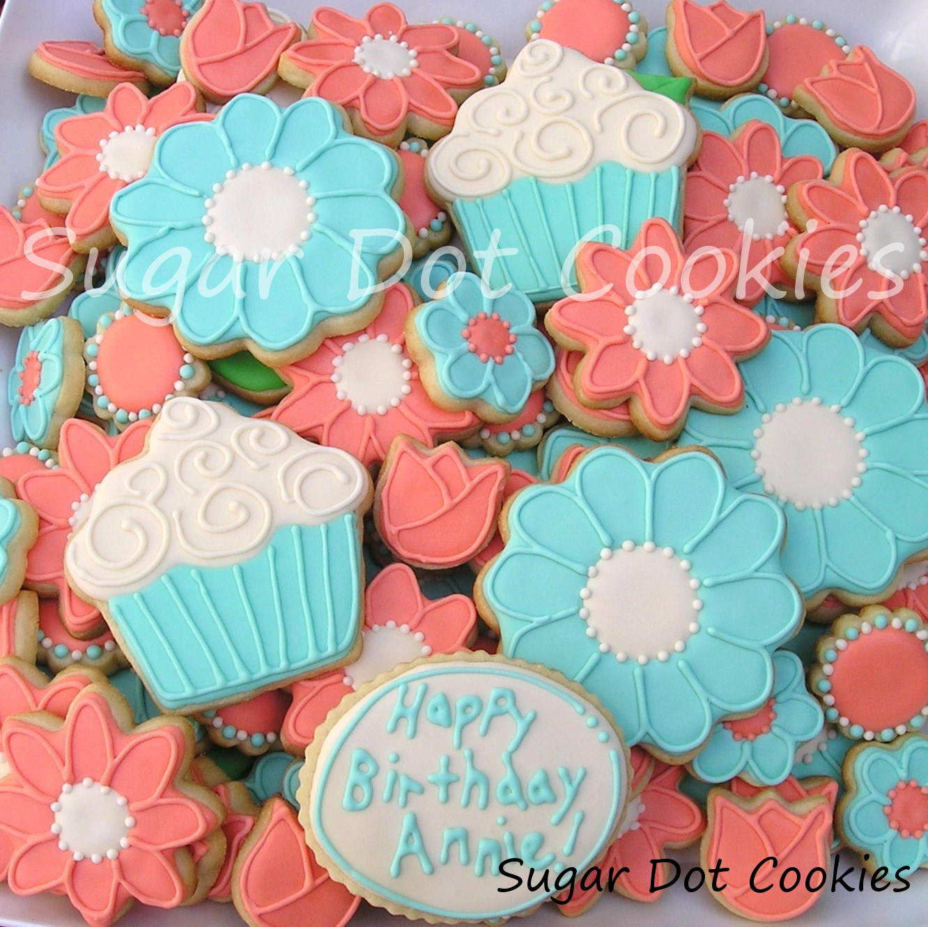 Sugar Dot Cookies How to Make Flower Centers Royal Icing Sugar