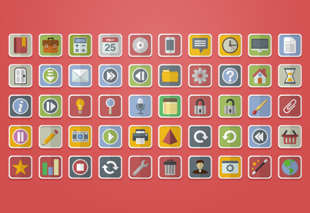 640x440x1 Vector Flat Icons 800x518 1c 10 Amazing Free Download Flat Icons PSD