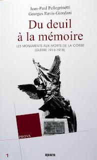 Ouvrage Monuments aux morts de Corse
