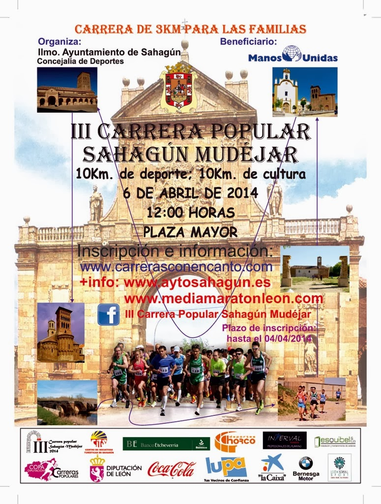 carrera popular Sahagun Mudejar 2014