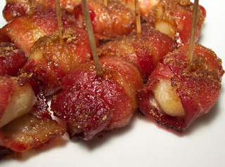 Water Chestnuts Wrapped in Bacon