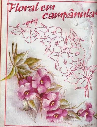 Manualidades y mas flores con patrones para pintar en tela - Dibujos para pintar en tela infantiles ...