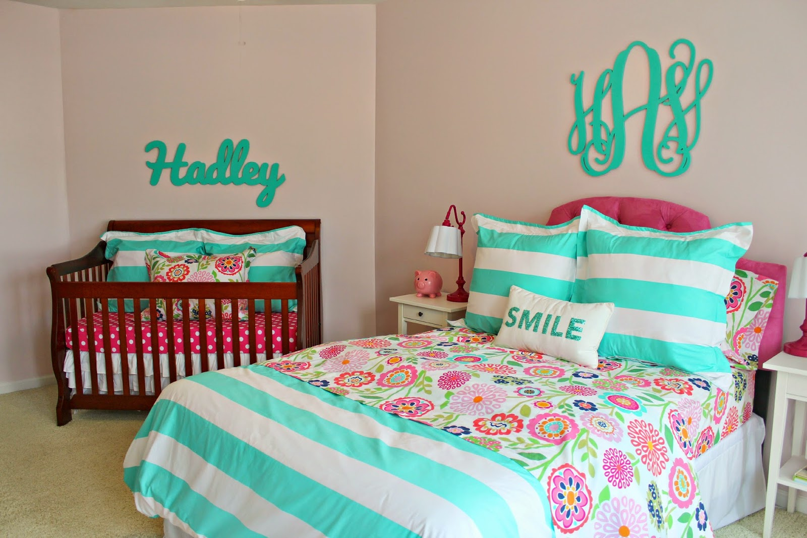 carolina on my mind: Hadley\'s Nursery/Big Girl Bedroom: Name Above Crib