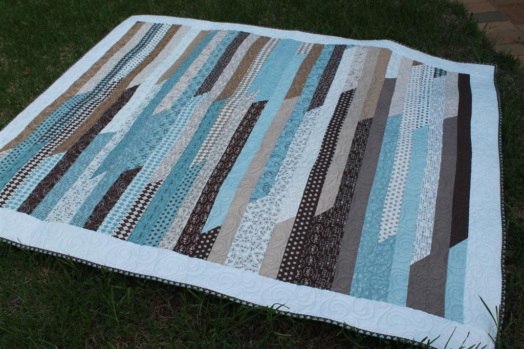 Quilt Pattern Jelly Roll Race : Thimbelina: Jelly Roll Race quilt finshed
