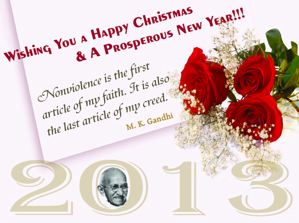 Gandhi Quotes on Nonviolence, Happy New Year