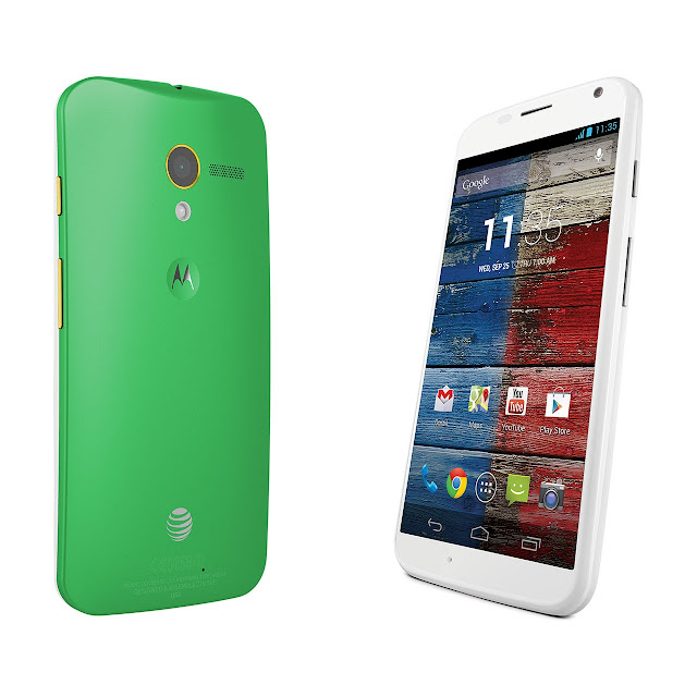 Motorola Moto X front & back