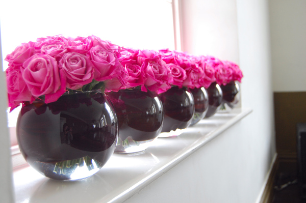 Pink and black party decorations favors ideas