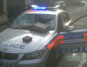 police car bricked