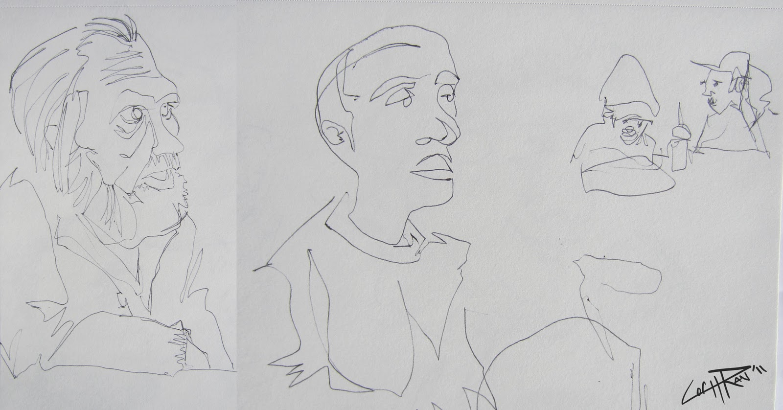 Contour Line Drawing Of A Person : Ways to get good at drawing wikihow