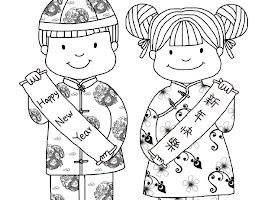 Korean New Year Coloring