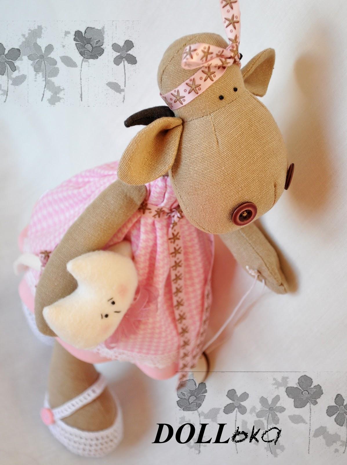 Коровка, текстильные игрушки ручной работы