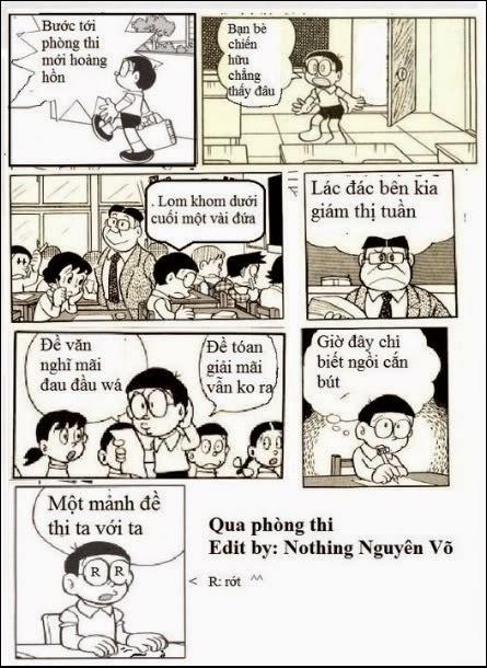 Bài thơ vui đi thi của Nobita