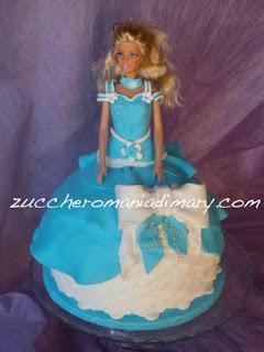 torta compleanno pasta doi zucchero principessa