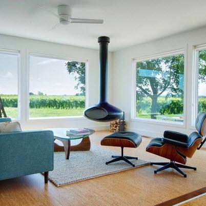 Dise o de sala estar con ideas fotos y tips de for Imagenes chimeneas modernas