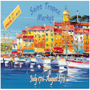 St Tropez Market - July 17th until August 27th.