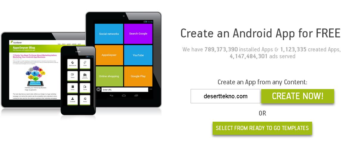 Cara Membuat Aplikasi Android Untuk Situs Anda Dengan AppsGeyser