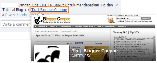 Code FP Untuk Promosi Fans Page