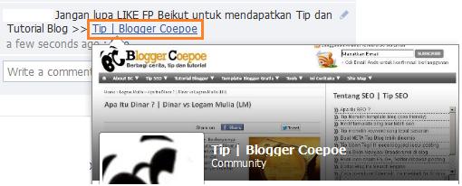 Code FP Untuk Promosi Fans Page