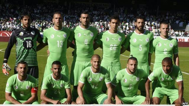 التشكيلة الرسمية للمنتخب الجزائري في المونديال