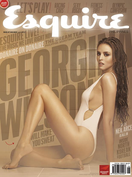Georgina WIlson hot and steamy on the cover of Esquire July 2012 Issue