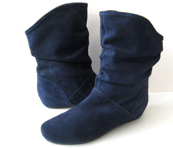 NWOB STEVE MADDEN BLUE SUEDE SLOUCH BOOTS **EXCELLENT** WOMENS ...