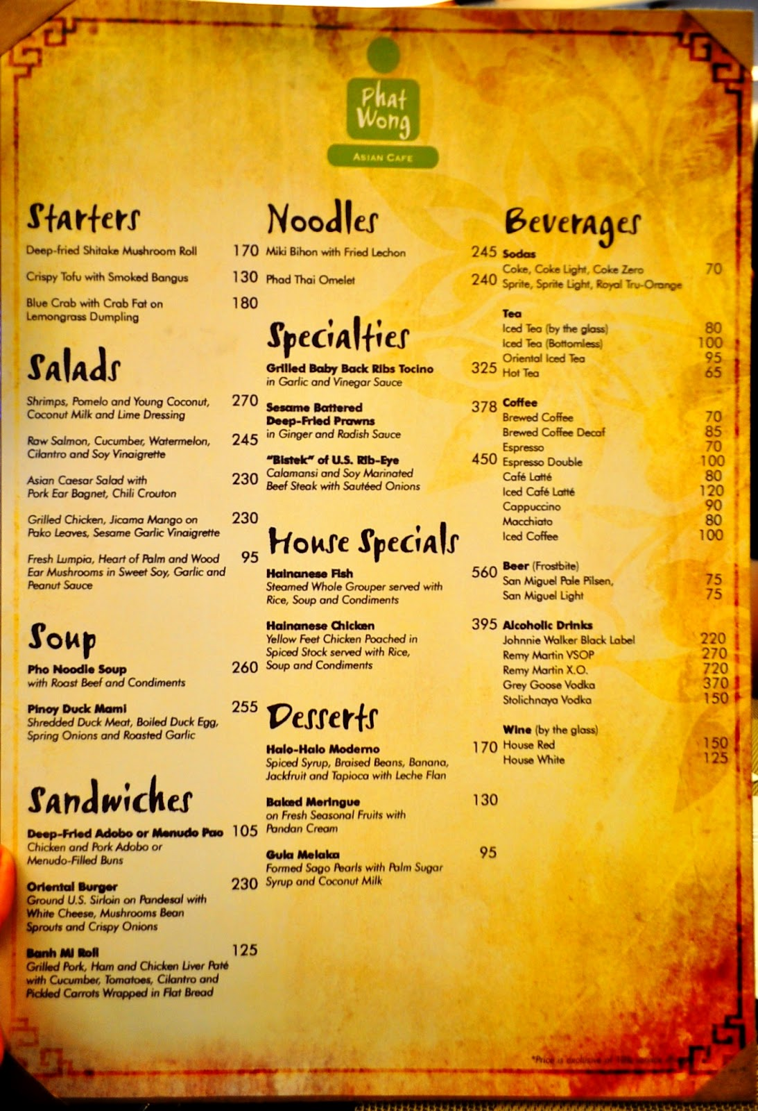 Asia Cafe West Knoxville Menu