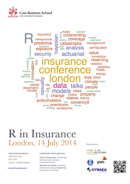Reminder: Abstract submission for the 2014 'R in Insurance' conference will close this Friday